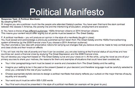 manifesto template image gallery manifesto exles