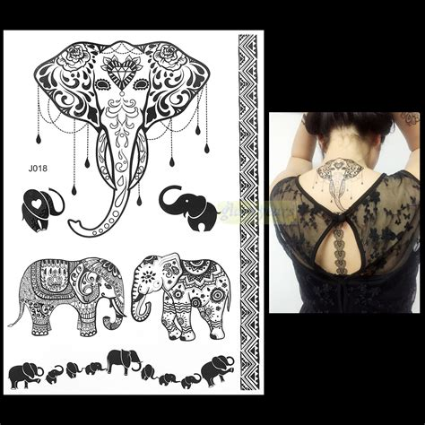 1pc fashion flash waterproof tattoo women black ink henna