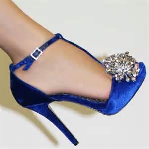 Hermosos Tacones Para Gorditas Royal Blue Wedding Flats