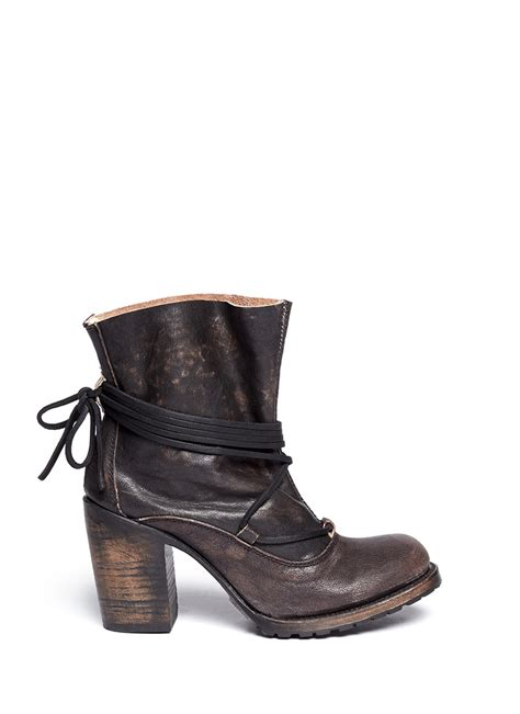 free bird boots freebird jumpn wrap string tie leather boots in black lyst