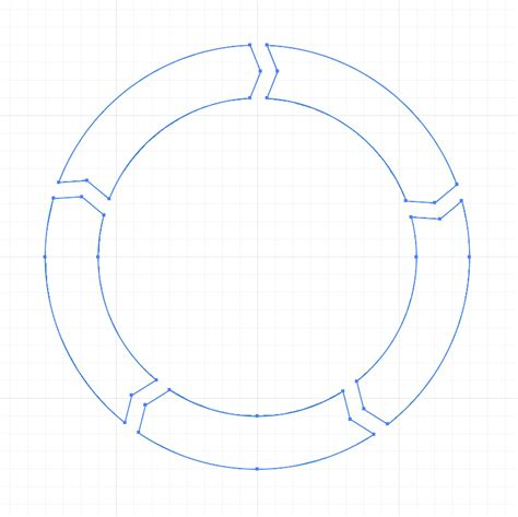 duplicate a shape around a circle using array modifier in vector how do i create a custom shapes in the shape of a
