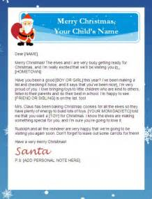 Free Letter From Santa Template Free Christmas Printables For Kids Letters To Santa