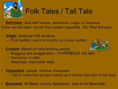 An American Folktale Of Exaggerations Fables Definition A Brief Story That Sets Forth Some Pointed Statement Of Origin Found