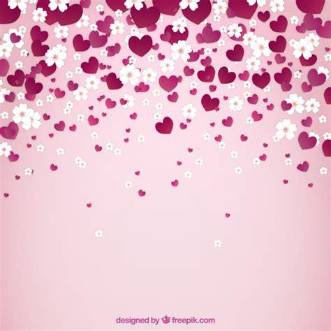 imagenes flores corazones fondo de primavera con flores y corazones descargar