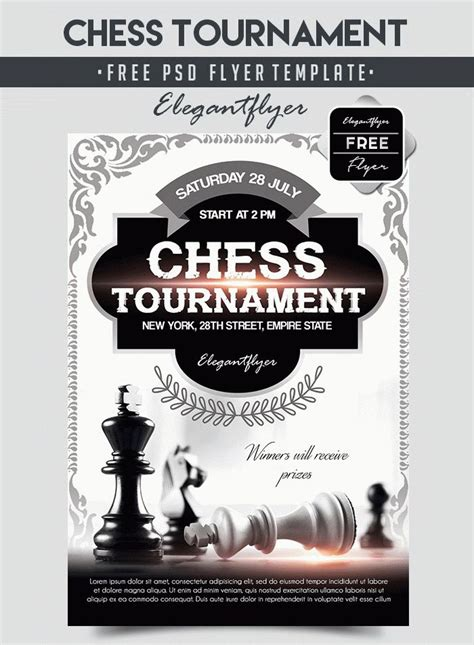 15 Free Black And White Party Flyer Psd Templates Designyep Tournament Flyer Template Free