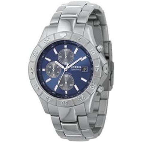 Men S Watches Brand New Fossil Men S Chronograph Blue