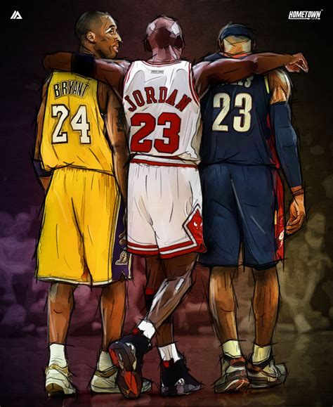 Op5060 Mirror Basketball Nba Michael 23 For I Kode Bi 2 bryant x michael x lebron illustration bryant lebron