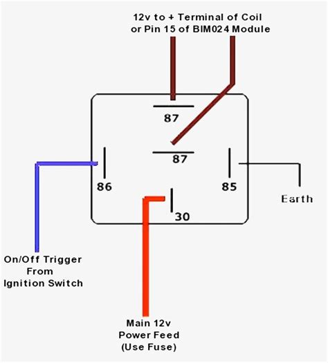 relay circuit diagram simple car relay wiring diagram 4 pin relay wiring diagram
