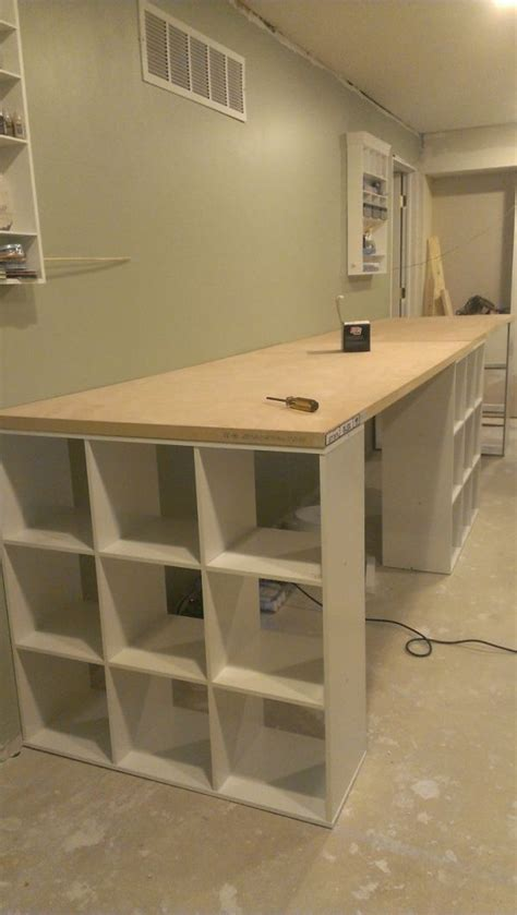 craft room work table 1000 ideas about table shelves on