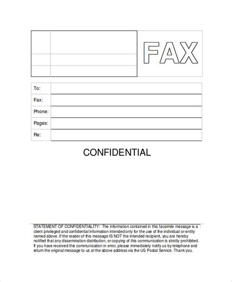 cover letter confidential sle generic fax cover sheets 8 documents in pdf word
