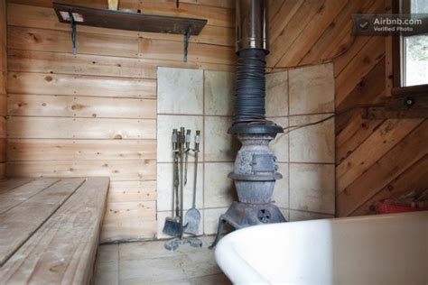 off the grid bathroom you can stay in this off grid micro cabin for 35 a night