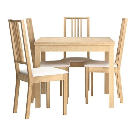 ikea dining room table and 4 chairs bjursta b 214 rje table and 4 chairs ikea