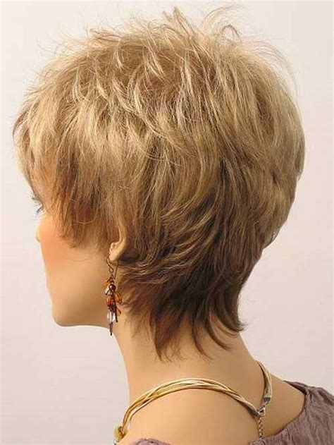 short hairstylescuts for fine hair with back and front view best short haircuts for older women in 2018 hairiz