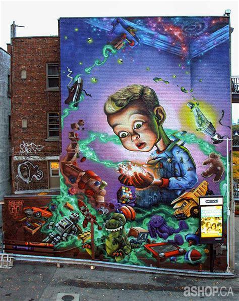 public murals  ashop crew   streets  montreal