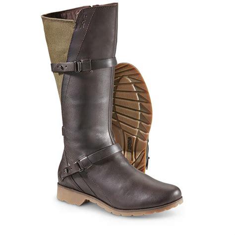 teva boots de la vina s teva de la vina boots brown green 652553