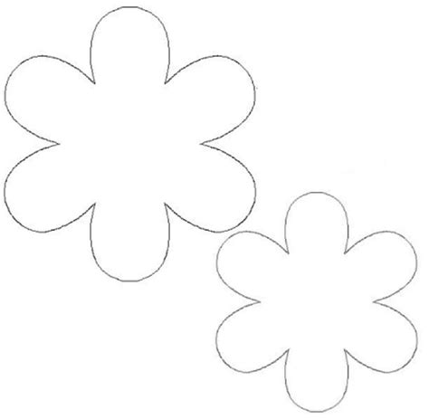 templates for children free printable flower template for children s activities activity shelter