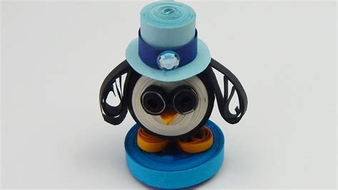 How To Make A 3d Penguin Out Of Paper - how to make a 3d quilling penguin quilling animal diy