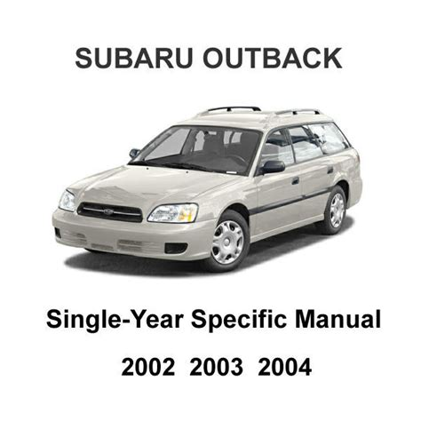 service and repair manuals 2002 subaru outback sport electronic toll collection 2002 2004 subaru outback oem factory repair service manual wiring diagrams other car manuals
