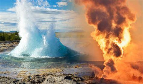 steamboat geyser eruption yellowstone volcano eruption first triple blast in decade