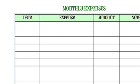 monthly living expenses template expenses worksheet worksheets reviewrevitol free