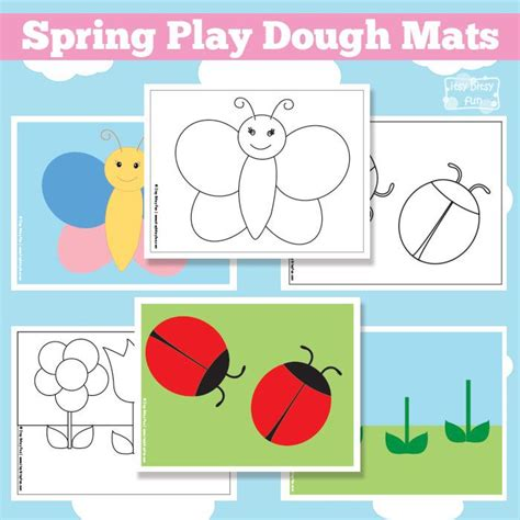 printable playdough mats spring play dough mats free printable we busy bags