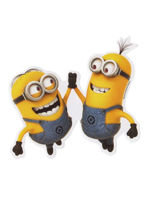 high five despicable me high five minion sticker topic minions topic