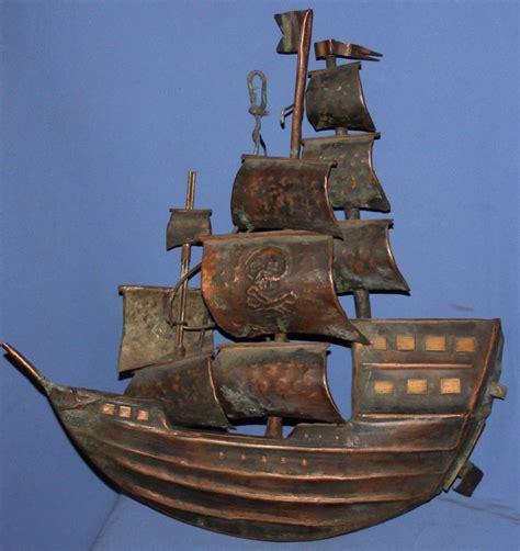 ship decor home antique hand made copper wall decor pirate ship ebay