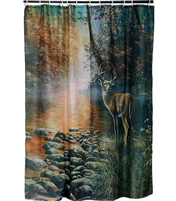log cabin shower curtains wildlife shower curtains everything log homes