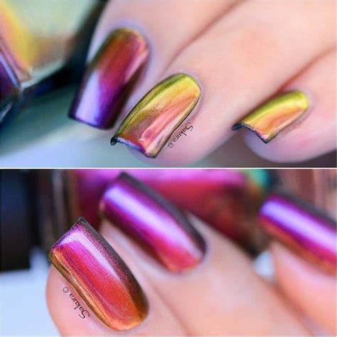 ideas  chrome nail polish  pinterest