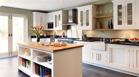 Ideas For Kitchen Colours classic painted white shaker kitchen from harvey jones