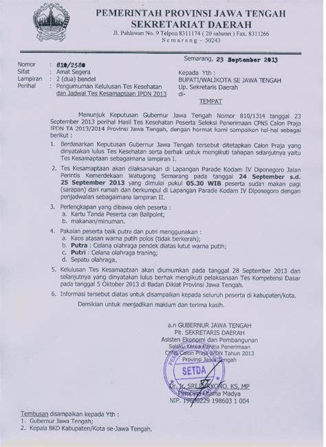 pengumuman tes kesehatan dan jadwal tes kesamaptaan ipdn 2013