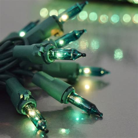 teal string light set 50 lights