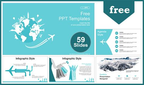 World Travel Concept Powerpoint Templates For Free Fully And Easily Editable Shape Color And Size Microsoft Powerpoint Templates Tourism