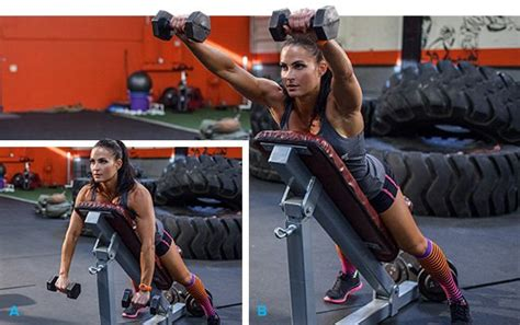 incline bench front raise erin stern elite body 4 week daily fitness trainer day 5