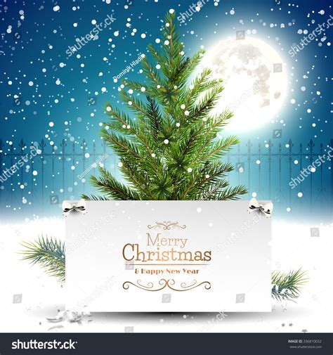 christmas cards shutterstock greeting card tree front stock vector 336810032