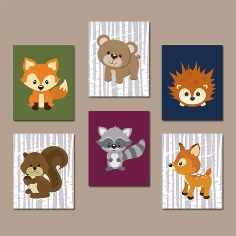Woodland Animal Nursery Decor Woodland Nursery Promotion Shop For Promotional Woodland Nursery On Aliexpress
