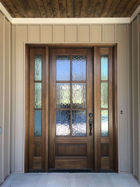 Mahogany Front Door With Privacy Glass See More Pictures Glass Front Doors For Homes