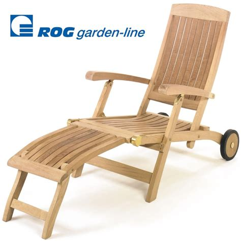 deckchair holz roggemann teak a qualit 196 t holz liegestuhl mit r 196 dern