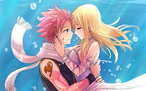 anime fairy tail lucy wallpaper underwater nalu hd wallpaper background image