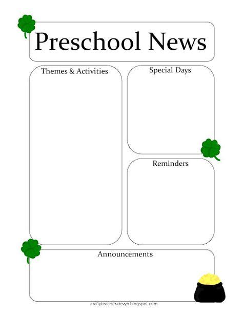march newsletter template free classroom newsletters on preschool newsletter