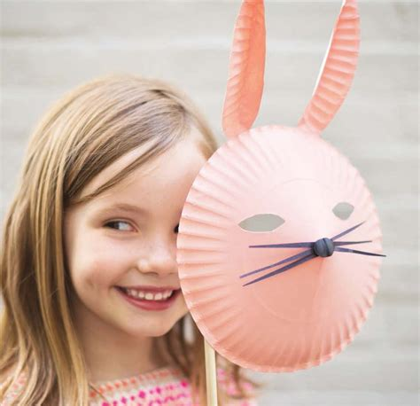 How To Make Masks Out Of Paper Plates - paper mask projects for popsugar