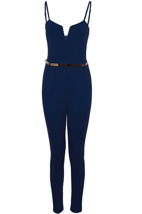 Helena Square Premium Crepe 9 womens strappy sleeveless square v neck crepe gold belted plain jumpsuit ebay