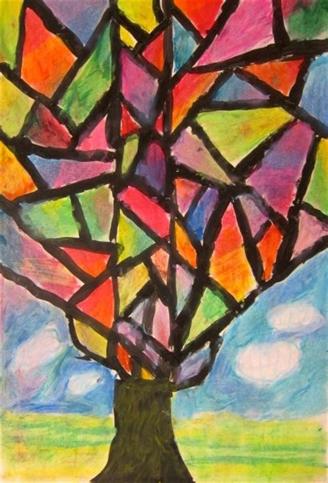 abstract art basic art art is basic art teacher blog abstract oil pastel trees 4th 5th grade crafts for kids