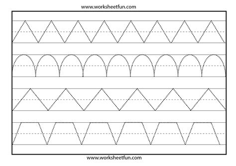 pattern lines worksheets line tracing worksheet pinterest worksheets and
