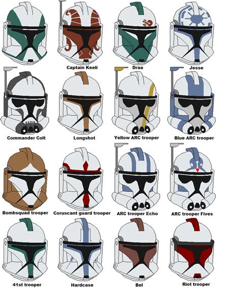 How To Make A Clone Trooper Helmet Out Of Paper - clone trooper helmets 2 by vaderboy on deviantart