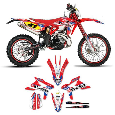 motocross bike graphics 2013 2018 beta 300rr motocross graphics kit dirt bike