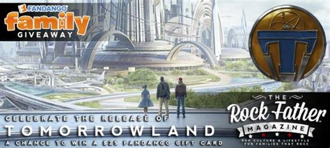 Fandango Digital Gift Card - giveaway celebrate the release of tomorrowland win a 25 fandango gift card