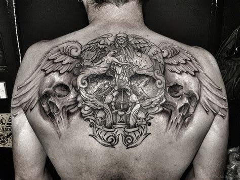skull back tattoos 74 marvelous skull tattoos for back