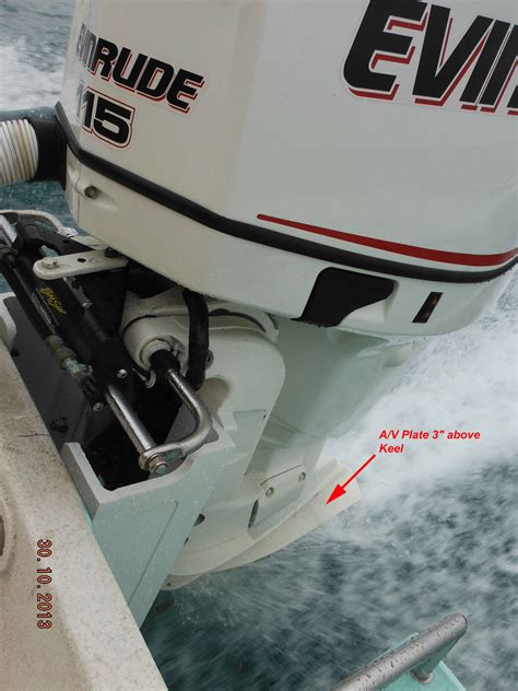 boat height on transom fixed setback bracket transom height thoughts the hull
