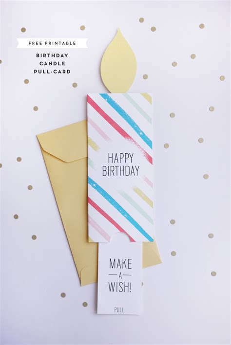 printable birthday cards diy printable birthday pull card